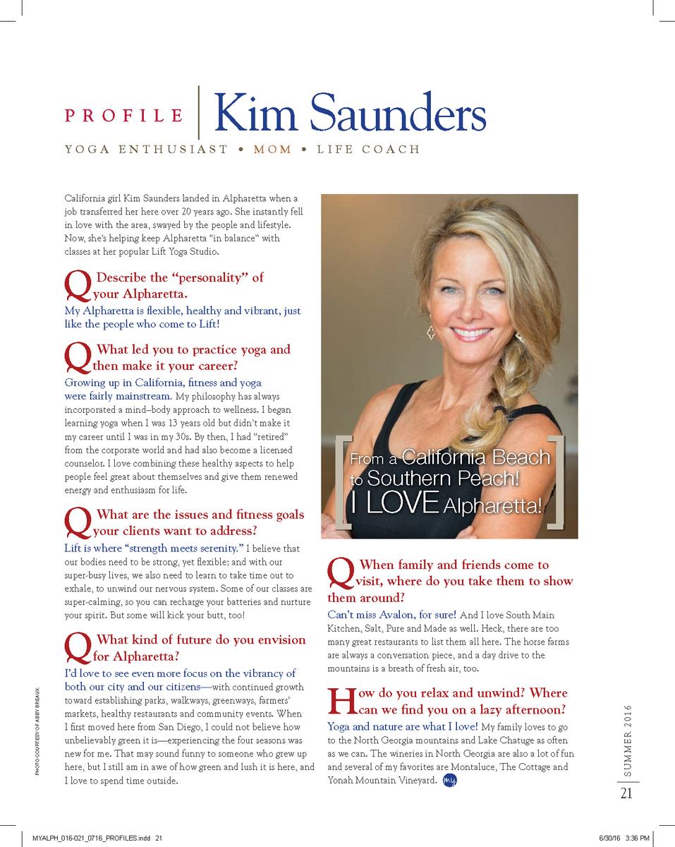 Kim Saunders My Alpharetta Profile