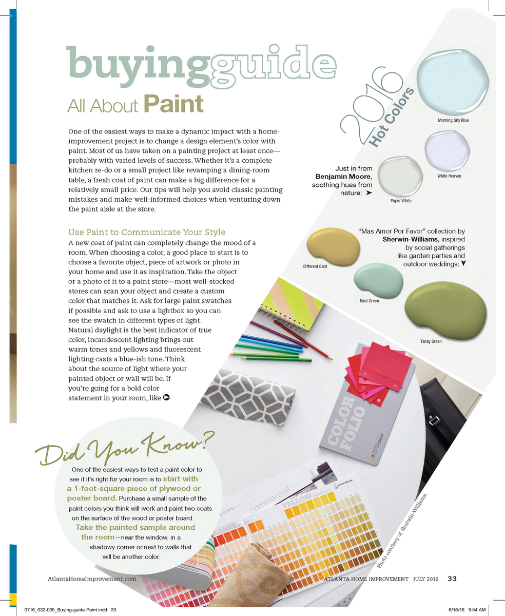 Paint Buying Guide