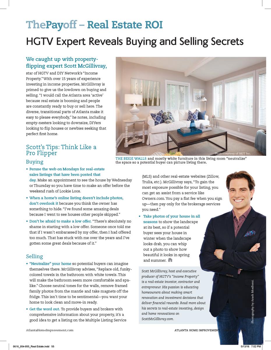 Scott McGillivray HGTV Expert