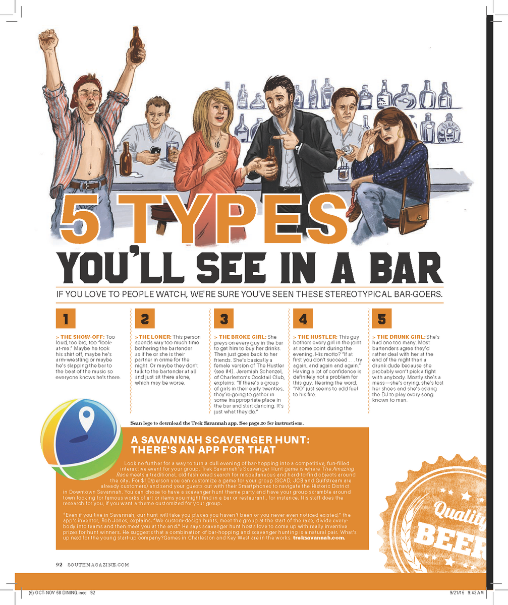 5 types you'll see in a bar